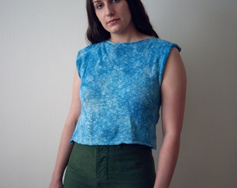 Indigo Dyed Summer Knit Top