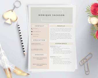 resume templates cv templates by laurelresume on etsy