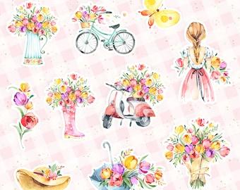 Blooming Diecuts - set of 10
