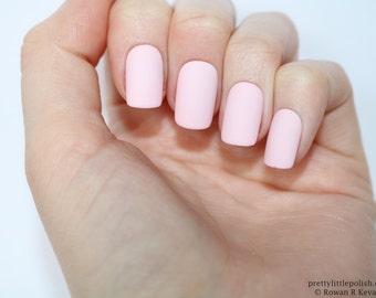 Matte pastel pink short square nails, Nail designs, Nail art, Nails, Short square nails, Acrylic nails, Oval nails, Fake nails, False nails
