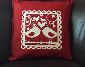 Kissing Bird Pillow