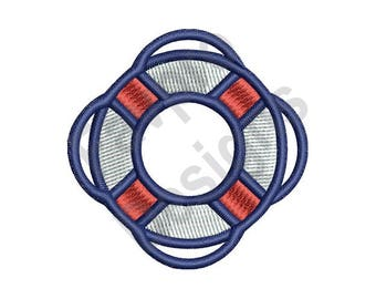 Life Preserver - Machine Embroidery Design