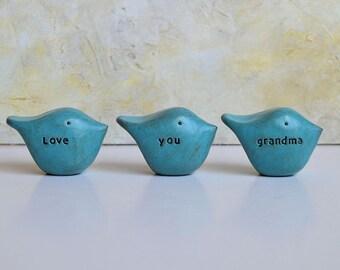 Gifts for grandma / Christmas gift for her / 3 love you grandma birds / gift for women / birds gift / gifts for grandmas