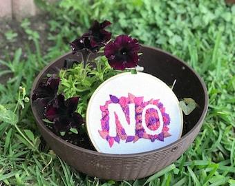 "Embroidery ""NO"" Design - 6 inch"