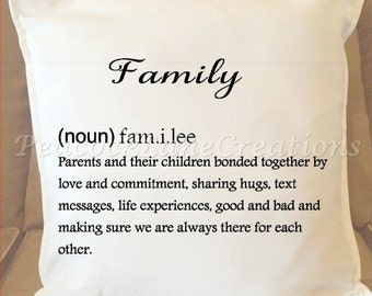 Family Throw Pillow Cover, Family Noun Definition, Accessory/Home and Living