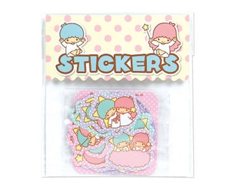 Little Twin Stars KIKILALA Flake seal 32P Paper craft handmade Stationery scrapbooking Collage card making cute SANRIO from Japan