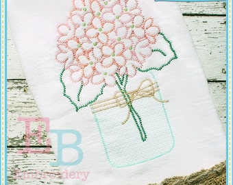Sketch Hydrangeas - This design is to be used on an embroidery machine. Instant Download
