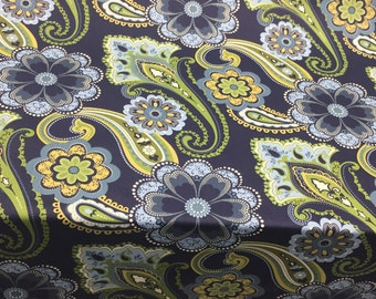 Richloom Better Homes & Gardens Amalya Opal Blue Paisley Fabric by the yard Multipurpose