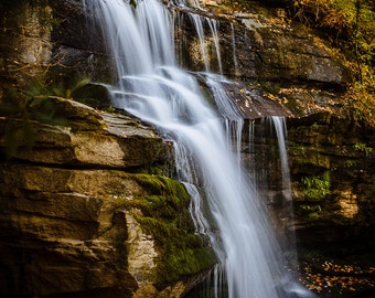 Enchanted Sacred Waterfall, Standing Rock Falls, Western NC, Asheville, NC Blue Ridge, Nature Inspired, Feng Shui Water, Nature Lover