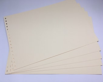 Extra pre punched card sheets for A4 scrapbooks sold by The Craft Bus