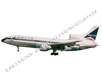 Delta Airlines Lockheed L-1011 Airliner - Cutout .PNG / .JPG image