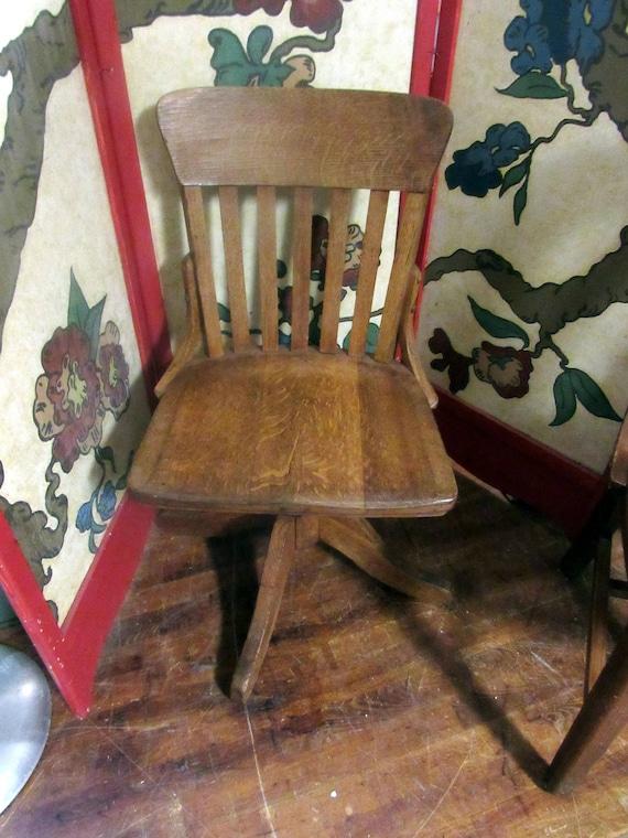 Antique Oak Desk Chair