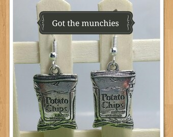 POTATO CHIPS MUNCHIES earrings