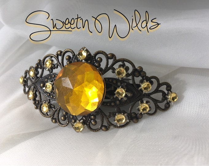 Antiqued Bronze & Gold Barrette