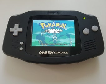 Nintendo Gameboy Advance Console Black backlight AGS 101 - New Glass Lens