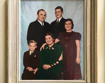 Wall Art Wood Frame Wall Decor Vintage Photo Family Portrait Frame Portrait Painting Vintage Photograph Photo Frame 16x20 Frame Art Frame