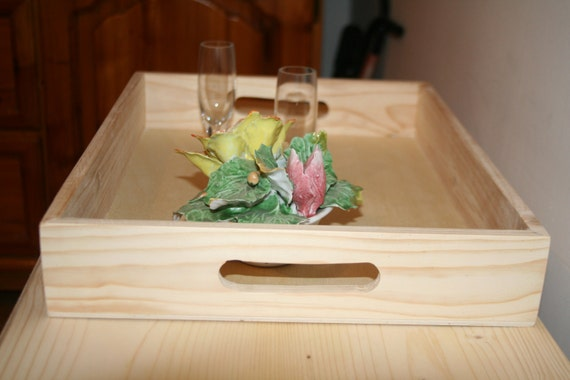 Unfinished Wooden Serving Tray Unfinished Wood Box Ready