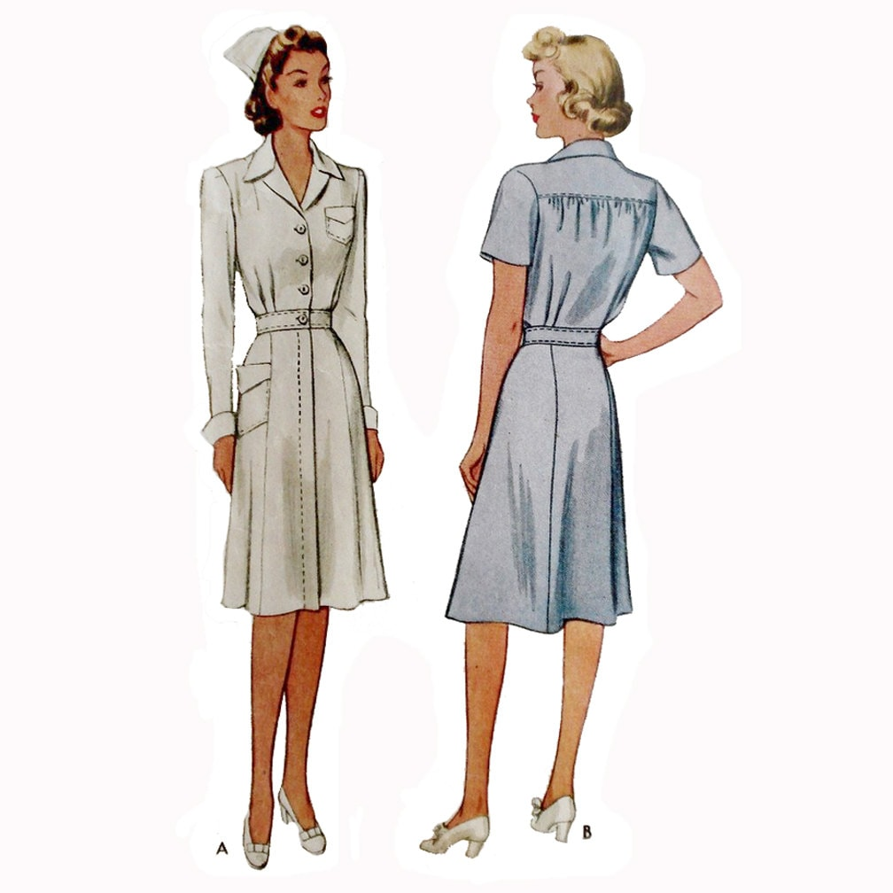 1940s Style Wwii Nurses Uniform Dress Custom Made In Your Size
