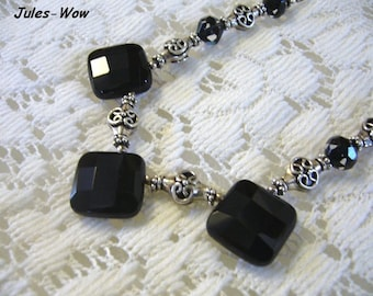 Signature - Black Onyx Sterling Bali Necklace