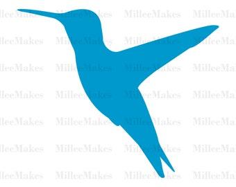 Hummingbird Silhouette Vector, Bird SVG, Bird Clipart, HTV Cut File, Vinyl Cut File, Vinyl Decal, Cutting Machine, Animal Silhouette