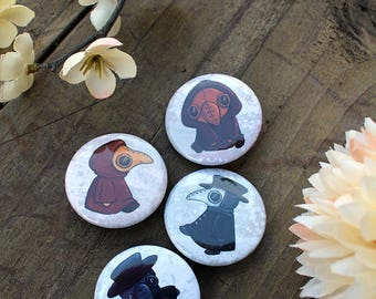 The Plague Doctor Will See You Now - Pin Back Button Set