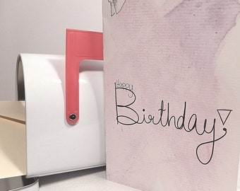 Happy Birthday Greeting Card - Handmade