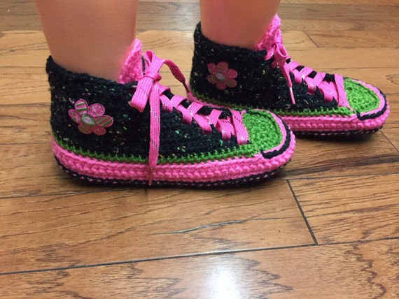 black 8 flower daisy Crocheted sneaker shoe pink 230 slippers flower sneakers slippers sneakers slippers slippers Womens tennis crocheted 10 OaCOqX