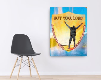 Psalm 3 3 Canvas; Scripture Art Gifts