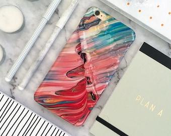 Paint iPhone Case iPhone 8 Case iPhone 8 Plus Case iPhone 7 Case iPhone 7 Plus Case iPhone 6S Case iPhone 6S Plus Case Gloss Wet Oil Red