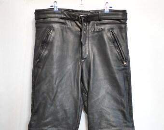Vintage MEN'S MOTORCYCLE LEATHER pants................(086)