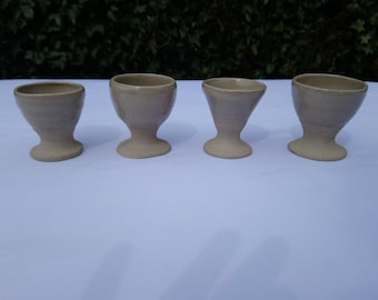 4 Stoneware Duck Egg cups