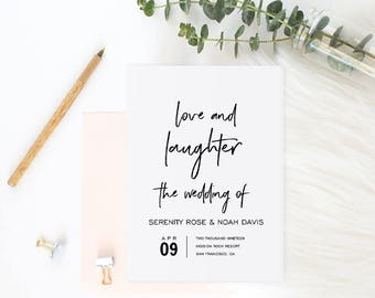 Wedding Program Book Template, Printable Wedding Program, Catholic Wedding Program, Instant Download Editable PDF Modern Wedding #SPP048pk