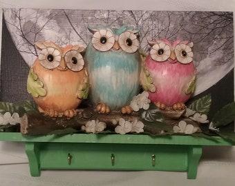 Night Owls Key Holder