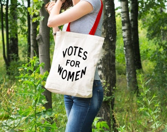 """Feminist Tote Bag: Historical """"Votes for Women"""" Tote   womens suffrage   womens rights   vintage feminist design   Great gift!"""