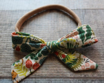 Floral One Size Baby Bow, Knot Headband, Bow Headband, Baby Girl Hair Accessories, Baby Headband, Baby Girl Bow,
