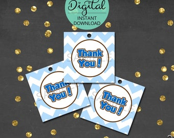 Cookie Monster Thank You Tags, Thank You, Cookie Monster Birthday, Cookie Monster Party, Cookie, Printable Tags,  INSTANT DOWNLOAD #3956