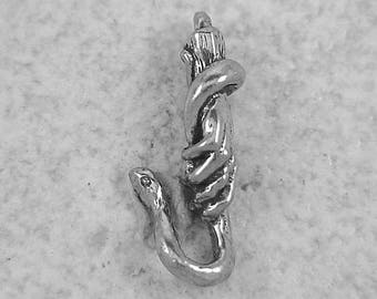 Green Girl Studios Pewter Snake Hand Hook Charm