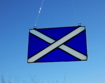 Scottish Saltire in stained glass