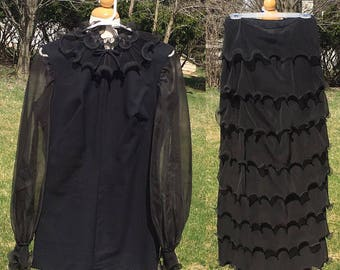 "Vintage 1960s Romper | Maxi Skirt | Mel Warshaw | 28"" Waist"