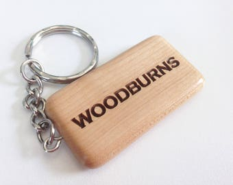 Personalized Wood Keychain - Laser Engraved