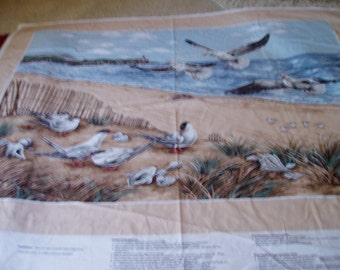 Large Panel Seascape Birds/Sand/Water