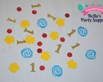 Moana Party Decorations. Moana Confetti. Luau Party Decoration. Flower Confetti. Tropical Table Decor, 100CT.