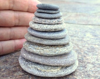 Flat Stackable Stone, Stacking Pebbles, Beach Pebbles, Cairn Stones, Zen Stones, Mood Stones, Meditation Stones, Mindfulness, MINI STACKS