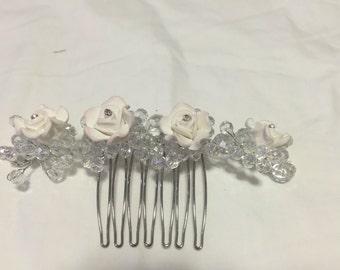 GLORIA - 4 Flower - Wedding Bridal Hair Comb