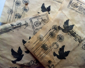 50 piece mini scrap paper pack, junk journal supply, scrapbook paper, card making, paper destash, paper scraps, vintage & new, paper craft