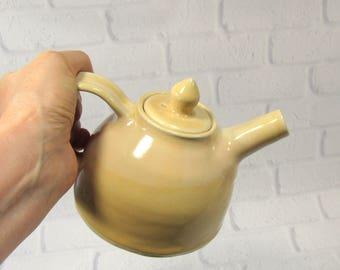 Sale SECONDS Teapot - round teapot - Ceramic teapot - Pottery Tea Pot - Yellow Teapot - Tea Time - Tea Server - Breakfast Tea