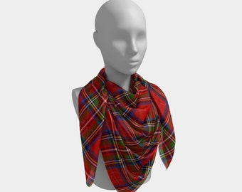 Royal Stewart Tartan Plaid Square Scarf