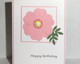 Pink Birthday Flower