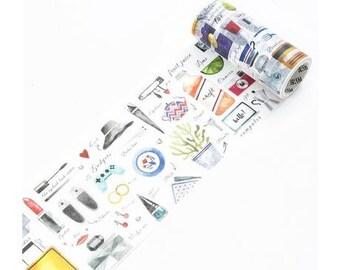 Fashion Life Style Washi Tape (100mm X 5M)