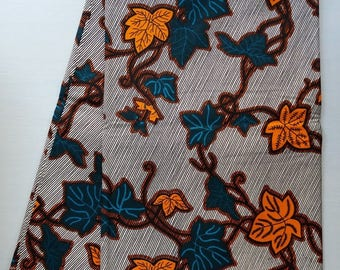 African Ankara Cotton Wax Printed Clothing and Craft Fabric (sold by the yard)